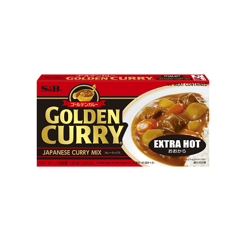 GOLDEN CURRY EXTRA HOT 220G ゴールデンカレー大辛 220G