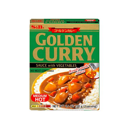 GOLDEN CURRY SAUCE WITH VEGETABLES MEDIUM HOT (RETORT) 230G ゴールデンカレーレトルト中辛 230G