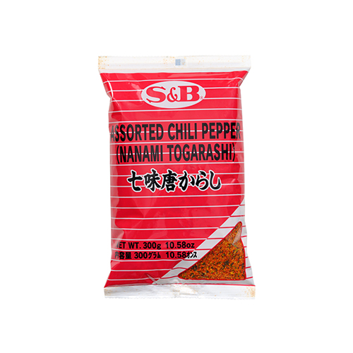 MARCO POLO SHICHIMI TOGARASHI (ASSORTED CHILI PEPPER) 300G マルコポーロ 七味唐辛子 300G